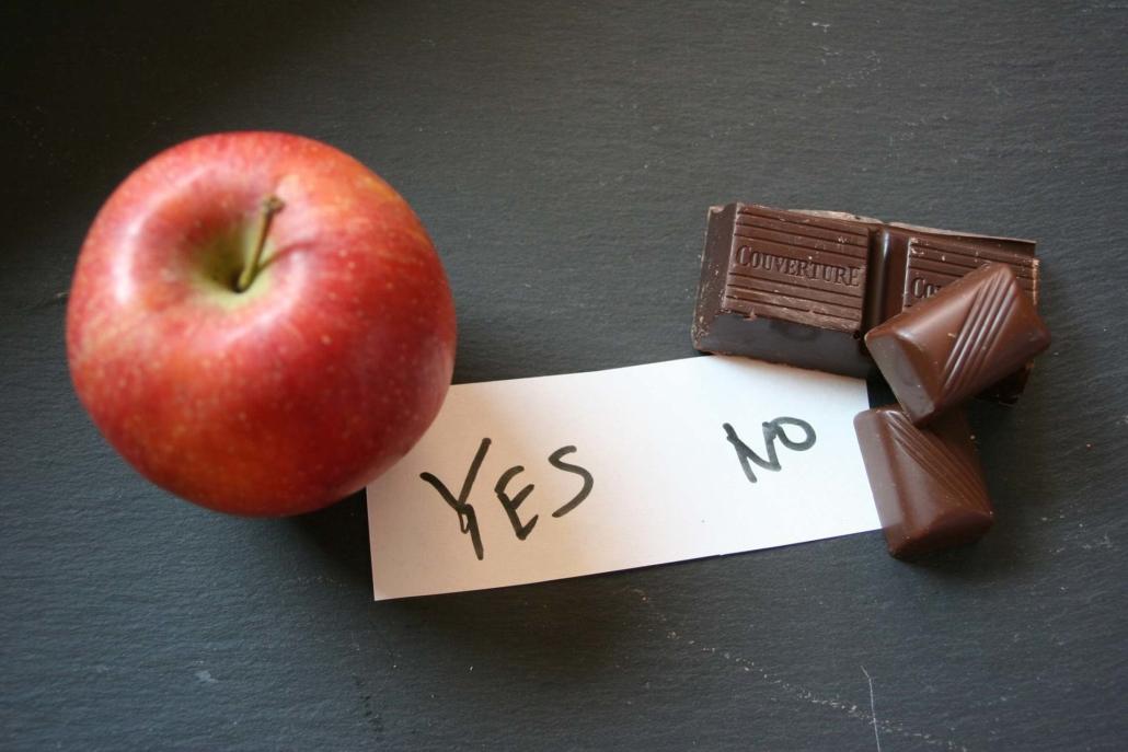 intervallfasten apfel ja schokolade nein e1627571039483 - Intervallfasten Fehler Nr. 1:  Ungeduld