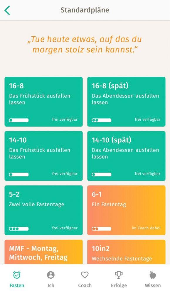 Intervallfasten-App-Testbericht, Screenshot 2 BodyFast