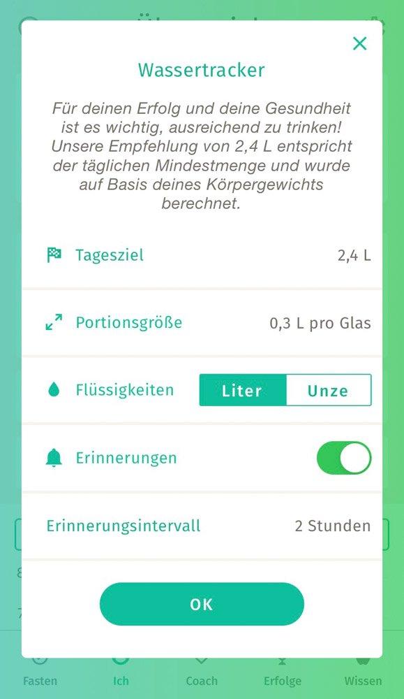 Intervallfasten-App-Testbericht, Screenshot 4 BodyFast