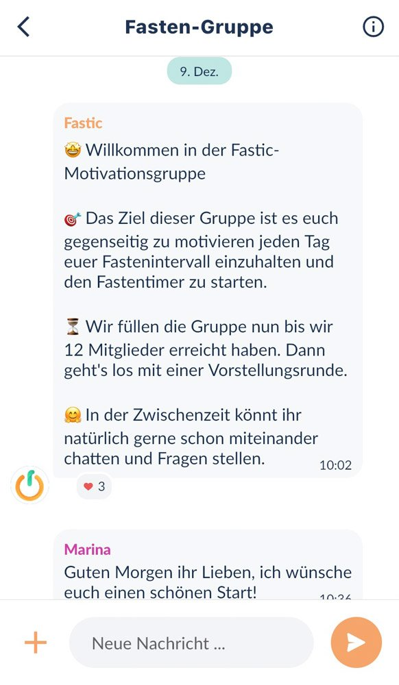 Intervallfasten-App-Testbericht, Screenshot 4 Fastic