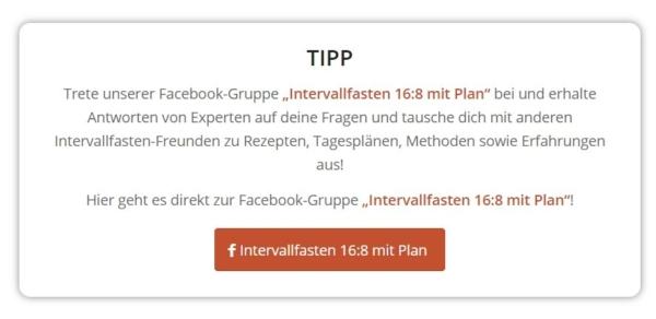 tipp facebook e1626953485884 - Intervallfasten Sport